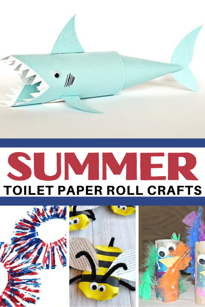 As the temperature heat up, cool off while making one of these summer toilet paper roll crafts. These are perfect for preschoolers to make!