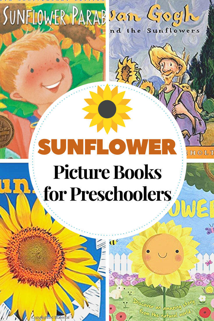 Gather a collection of books about sunflowers as you head into summer! Kids can learn about the life cycle of the sunflower and more!
