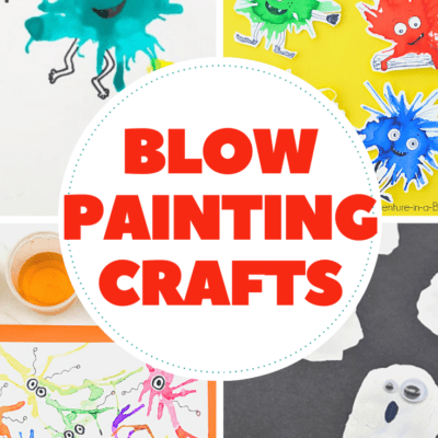 Blow-Painting Crafts for Kids