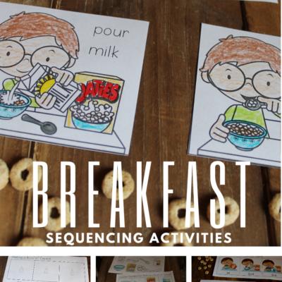 Breakfast Sequencing Activities