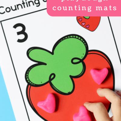 Strawberry Playdough Mats
