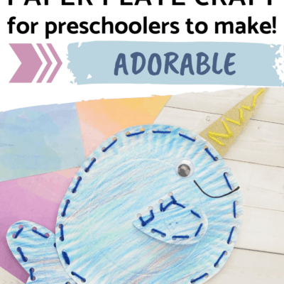 Narwhal Paper Plate Craft