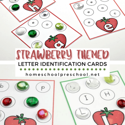 Strawberry Letter Identification Cards