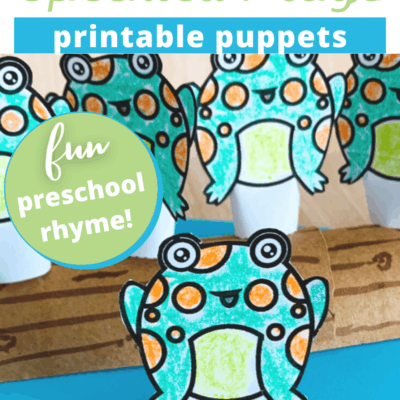 5 Green Speckled Frogs Printable Puppets
