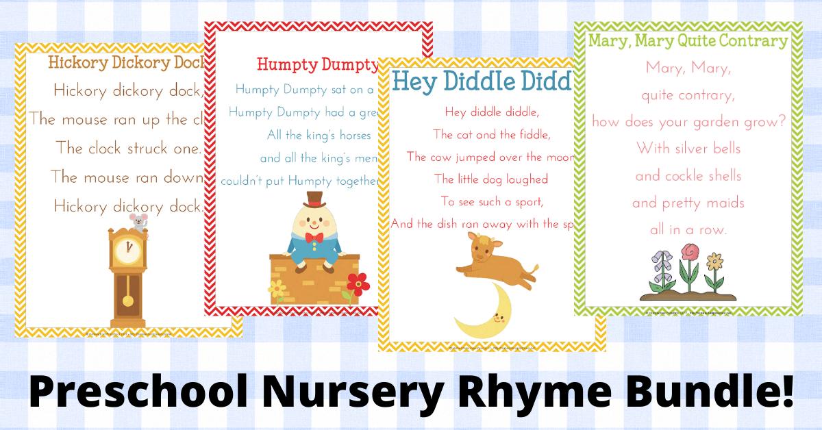 Preschool Nursery Rhymes Pack Featuring 10 Rhymes!