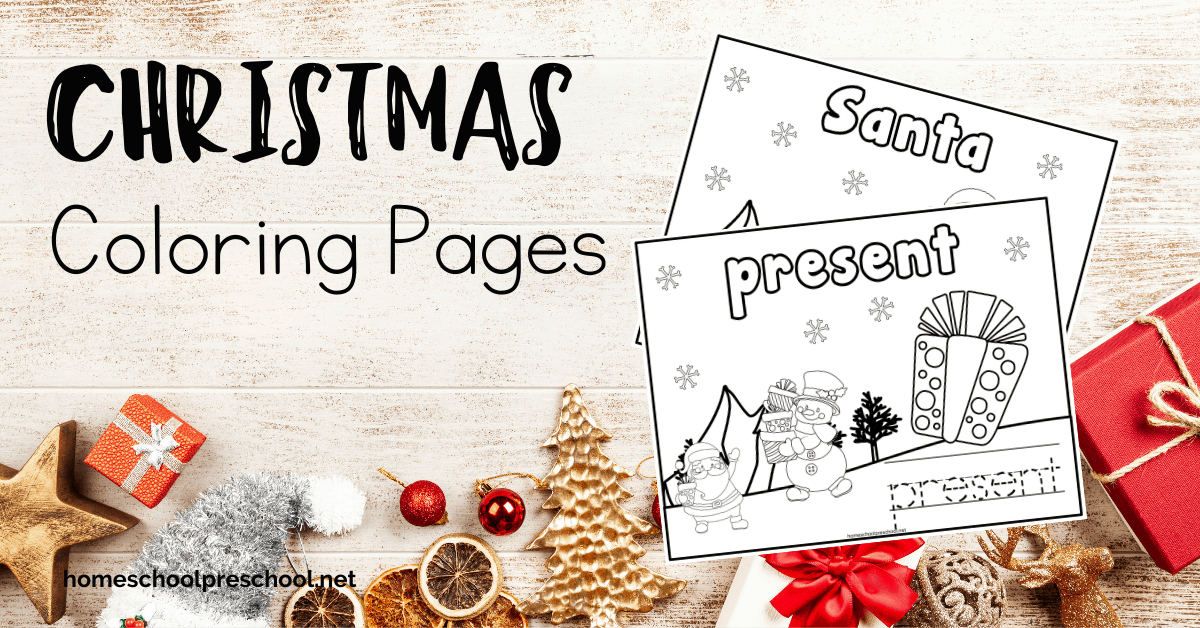Free Printable Christmas Preschool Coloring Pages