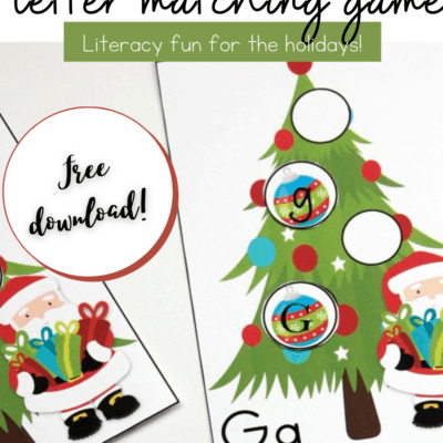 Christmas Letter Matching Alphabet Game