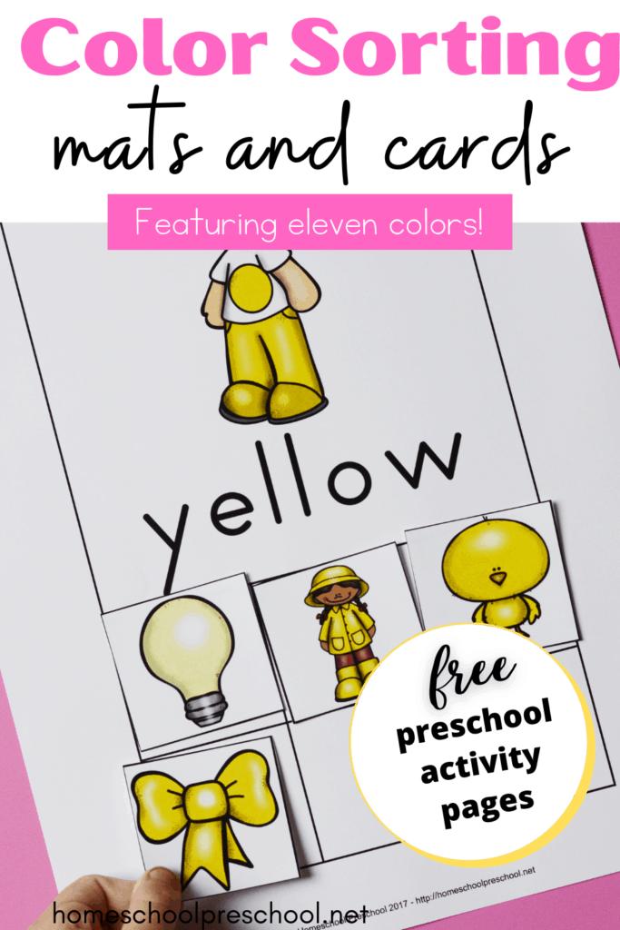 Free Printable Color Sorting Mats For Preschoolers