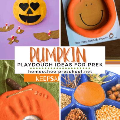 Pumpkin Playdough Ideas for Preschool