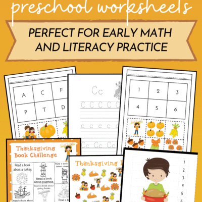 Thanksgiving Preschool Printable
