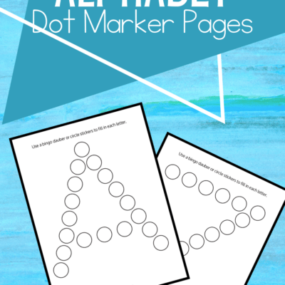 Alphabet Dot Activity Pages