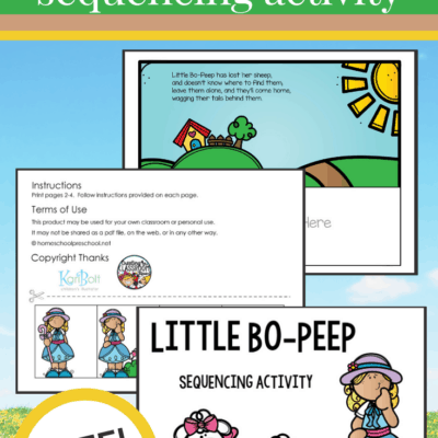 Little Bo Peep Sequencing Pictures