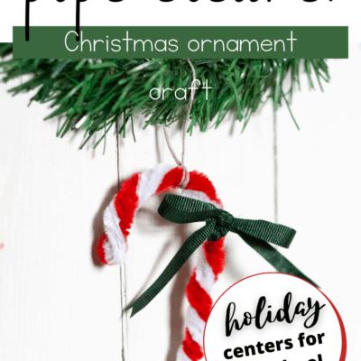 Candy Cane Christmas Ornament Craft