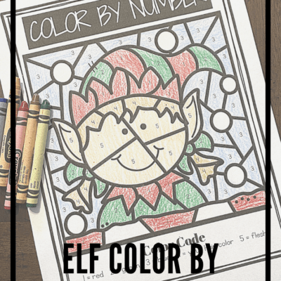 Elf Color By Numbers
