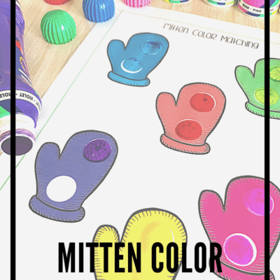 Mitten Color Matching Printable