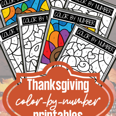 Thanksgiving Color By Number Preschool Printables