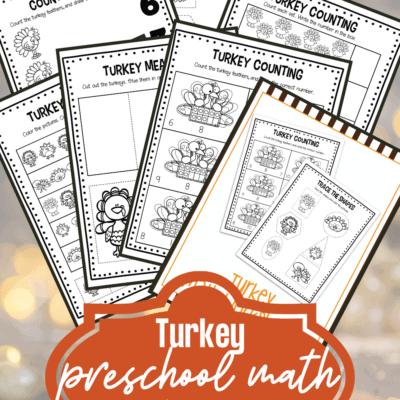 Turkey Math Worksheets