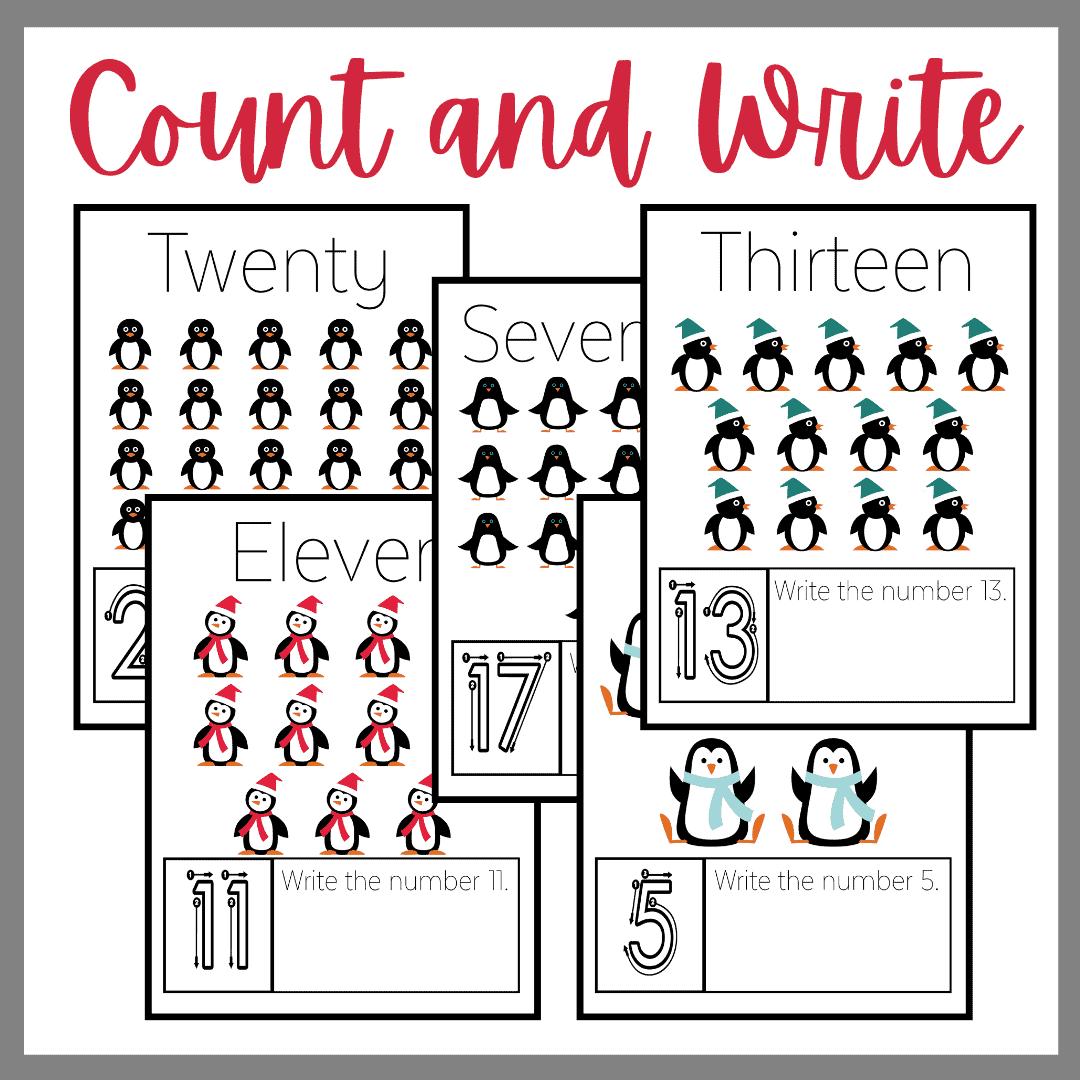 Penguin Kindergarten Worksheets