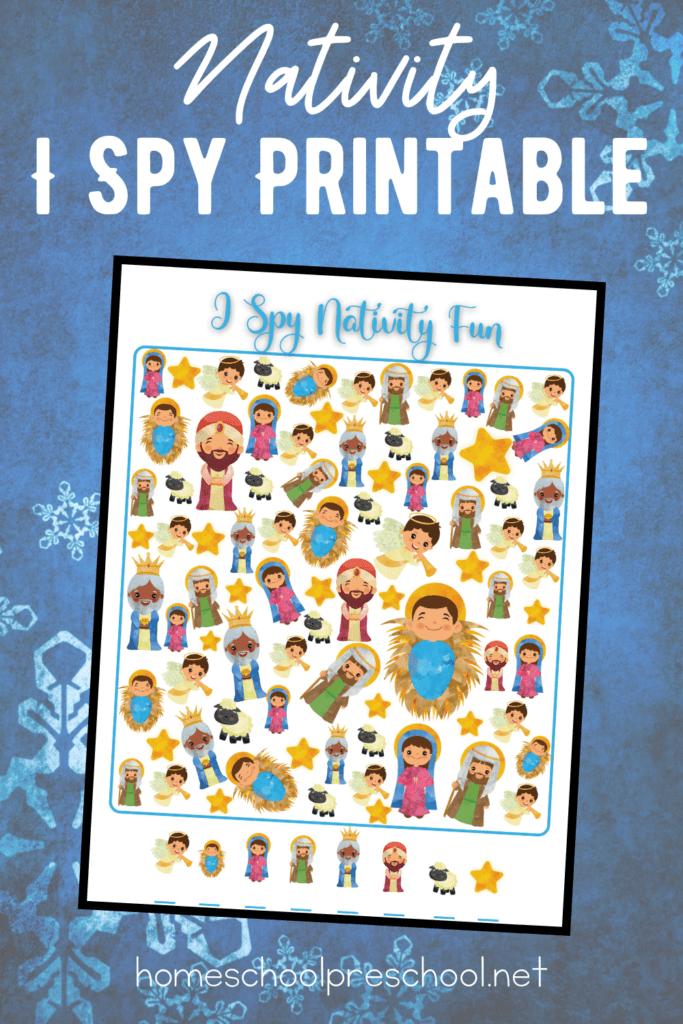 Preschool Nativity Activities Maze and I Spy Game