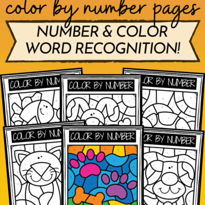 Pets Color By Number Printable