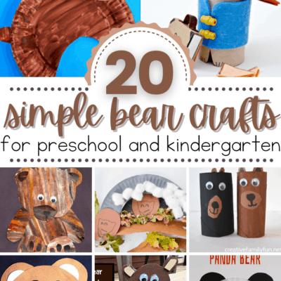 Bear Crafts for Kindergarten