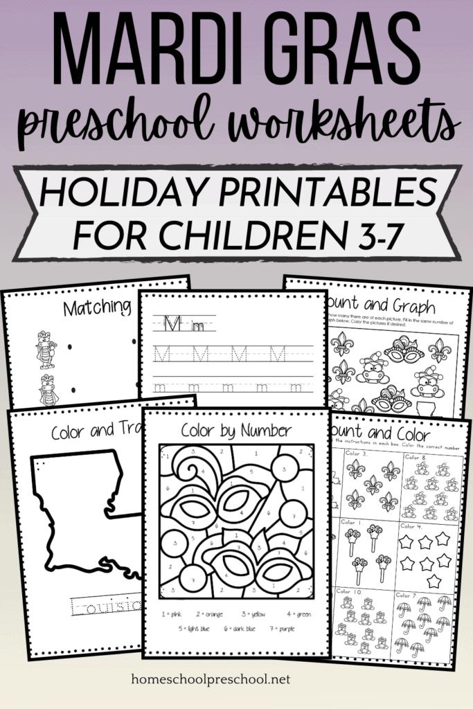 Free Printable Mardi Gras Worksheets For Kids