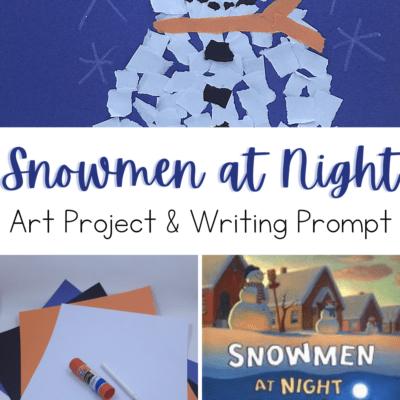 Snowmen at Night Art