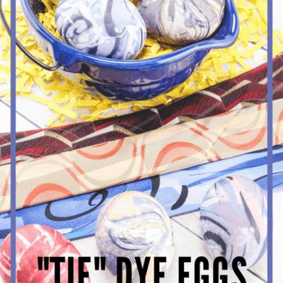 Dye Easter Eggs with Silk Ties