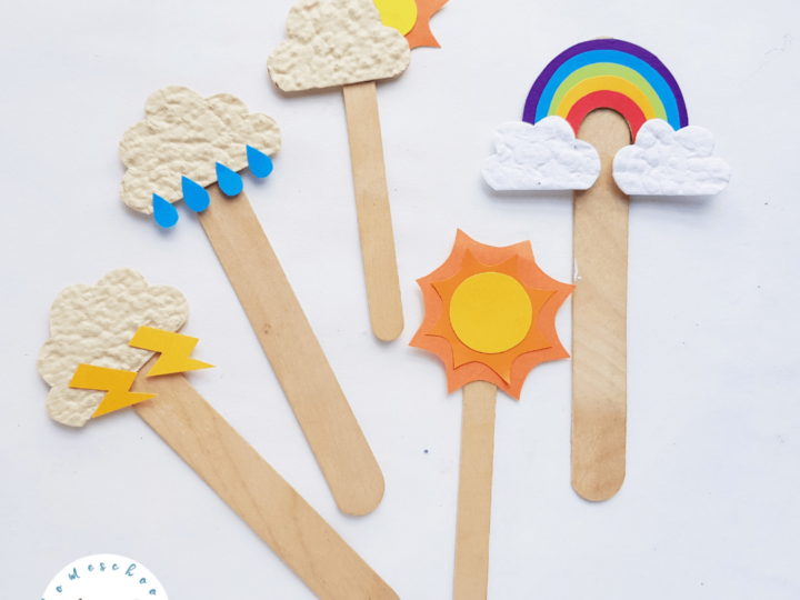 Weather Popsicle Stick Craft
