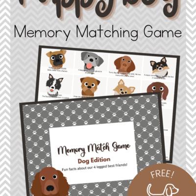 Dog Memory Matching Game