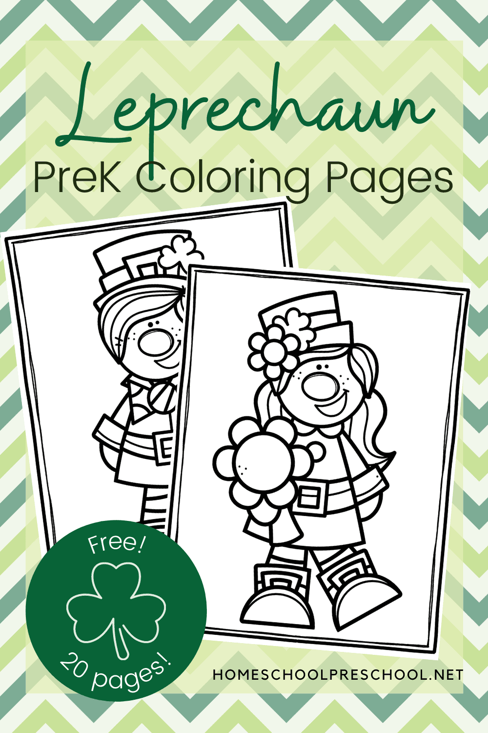 Leprechaun Coloring Pages For St Patrick S Day