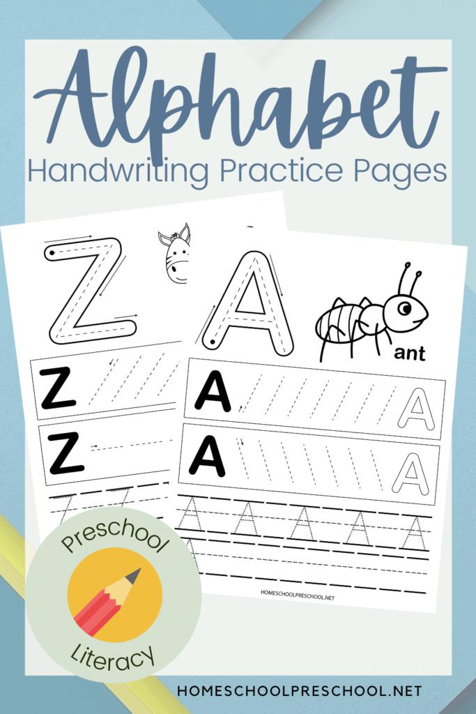Printable ABC Handwriting Practice Worksheets