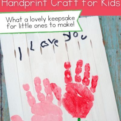 Handprint Mothers Day Craft