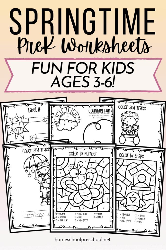 Free Printable Spring Worksheets For Preschool Skills