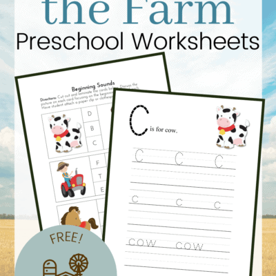 Printable Down on the Farm Activities