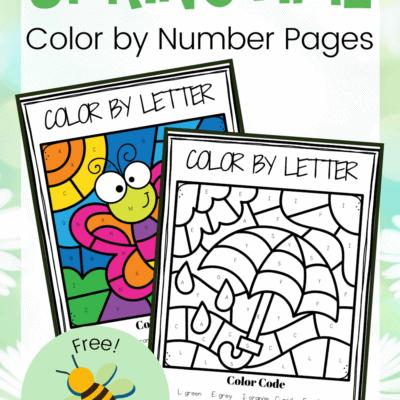 Spring Color by Alphabet Worksheets