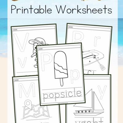 Summer Alphabet Worksheets