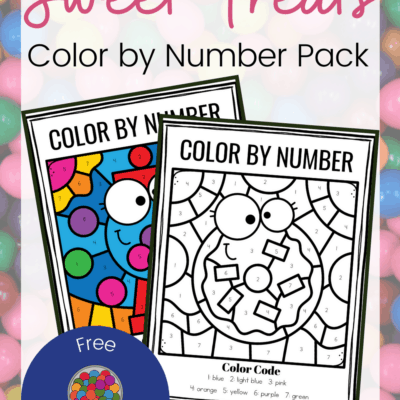 Sweet Treats Color By Number Printable