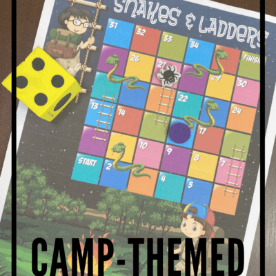 Camping Snakes and Ladders Game
