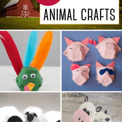 Egg Carton Farm Animals