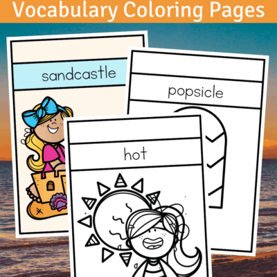 Summer Vocabulary Coloring Pages