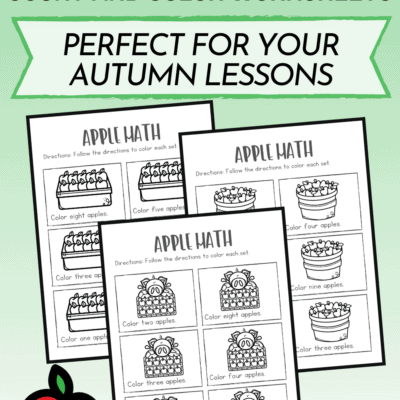 Apple Math Coloring Pages