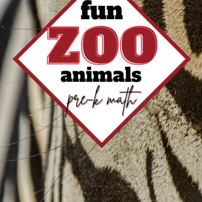 Zoo Animal Preschool Math Activities