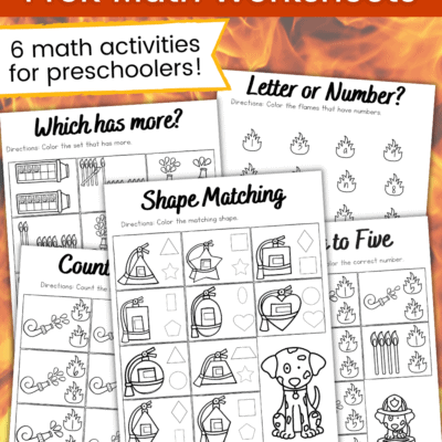 Firefighter Math Worksheets